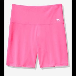 PINK VICTORIA'S SECRET HIGH WAIST BIKE SHORTS NWT!